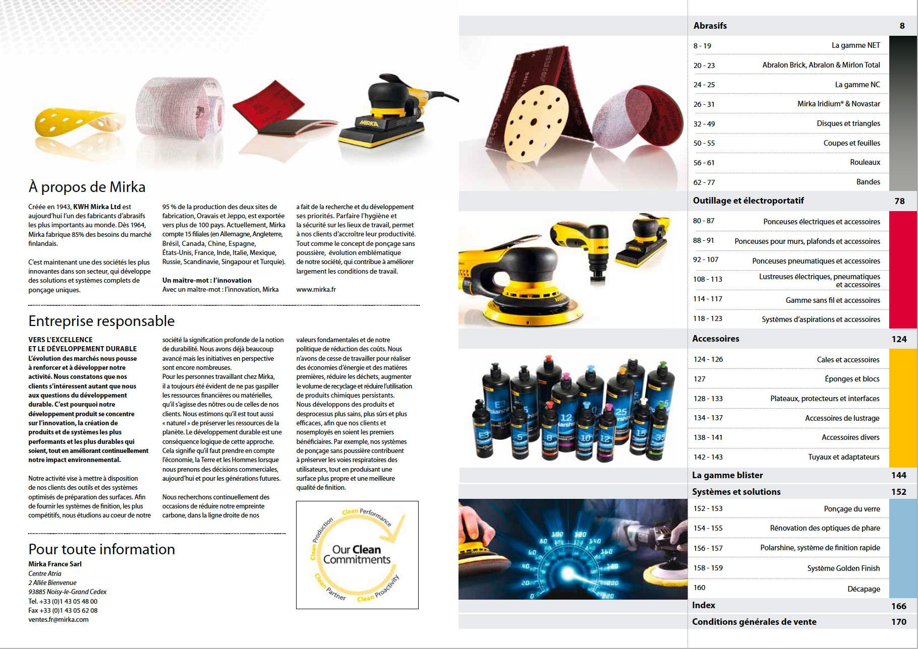 Mirka - Tarif 2020 - Solutions de ponçage